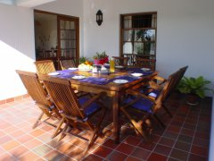 Acadia B&B - Breakfast served at veranda, accommodation in Plettenberg Bay